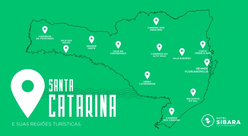 As regiões turísticas de Santa Catarina