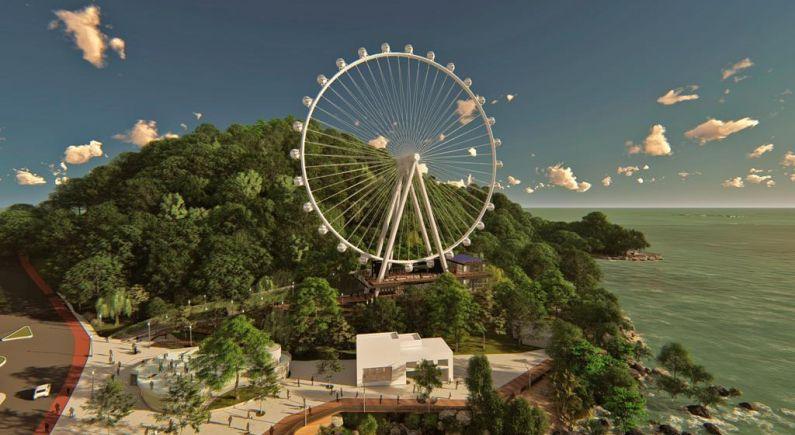 Iniciada a obra de construção da BC Big Wheel, a roda gigante de Balneário Camboriú.