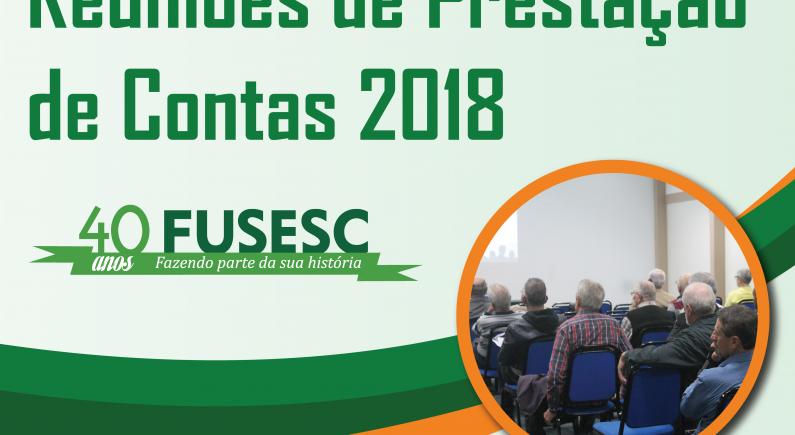 Reunião de Prestação de Contas 2018 FUSESC
